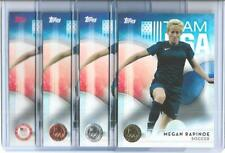 2016 TOPPS OLYMPIC MEGAN RAPINOE (4) SOCCER CARD LOT ~ BASE BRONZE SILVER GOLD