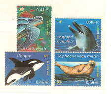 TIMBRES FRANCE NEUFS SANS CHARNIERES N° 3485 A 88 ANIMAUX MARINS
