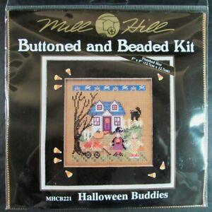 7x Xstitch Kit  Halloween Buddies/Autumn/Spooky/Witch/Spider/Pumpkin Patch-UD17