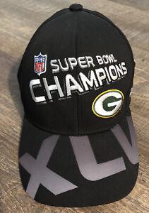 Reebok Green Bay Packers Super Bowl XLV Champions Hat On Field Locker Rodgers