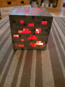 Think Geek Official Minecraft Light Block Bedside Night Touch Controlled Ore
