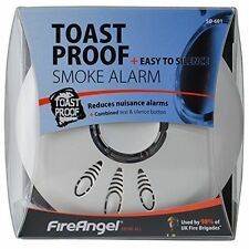 Fireangel Toast Proof Optical Sensor 85db Loud Smoke Alarm Home Fire Safety