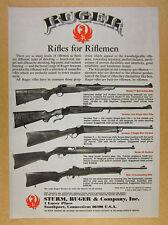 1978 Ruger Model 77 Number One 3 44 Carbine & Mini-14 Rifles vintage print Ad