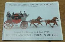 Catalogue de vente, Chartres, 3 et 4 avril 1993 (Jouets anciens, Chemin de fer)