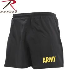 Black & Gold Army Pt Shorts Apfu Physical Training Work Out Running Exercise Gym