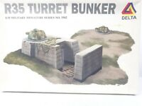 Delta WW2 R35 Turret Bunker 1/35 Military Miniature Series 3502 Scale Model Kit