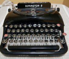 Vintage Remington Rand 5 Typewriter w/ Case & Keys, High Gloss Finish, 1937