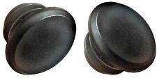 PAIR HANDLEBAR BAR END GRIP PLUGS CAPS BUNGS PUSH FIT BLACK 22mm ATB MTB BMX Vs3