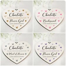 Personalised Thank You Gifts for Bridesmaid Maid of Honour Flower Girl Plaques