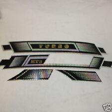 Serie Fregi Adesivi Sacche e Parafango Piaggio Vespa ET3  C/S Nero Cromo Turbo