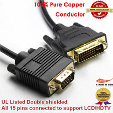 DVI 24+5 (DVI-I) male to VGA male Display Monitor Cable, 10FT / 3.0M