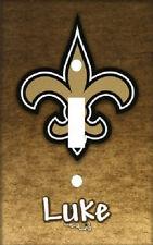 PERSONALIZED NEW ORLEANS SAINTS FOOTBALL LIGHT SWITCH PLATE COVER