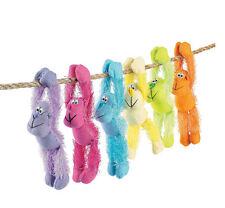 6 Plush Long Arm hanging Neon Gorillas Monkey LUAU ZOO SAFARI Decorations favors