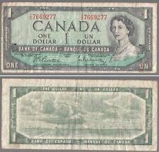 [35148] 1954 BANK OF CANADA ONE DOLLAR BILL