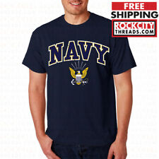 US NAVY LOGO T-SHIRT United States Crest Shirt USNAVY Tshirt U.S. Military USN
