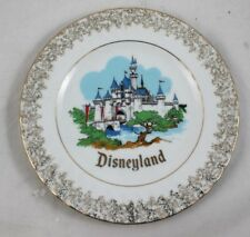 "Vintage Walt Disney Productions Disneyland 6.5"" Decorative Plate from Japan"