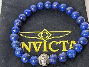 Invicta Men's Blue Lapis Lazuli Beaded Bracelet 33886
