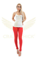 Ladies Full Length Cotton Stretch Leggings Womens Dance Casual Comfortable Wear