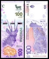 Argentina 100 Pesos ND 2018 P-New Serie A TARUCA UNC