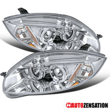 For 2006-2011 Mitsubishi Eclipse Clear LED Dual Halo Projector Headlights Lamps