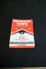 Swindon Town Division 3 Home Teams S-Z Football Programmes