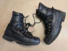 Original Altberg Black Leather Vibram Sole British Combat Boot Size 8M UK #879