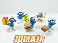 FIG3 lot 5 figurines PVC McDonalds PEYO Schtroumpf BIG MAC HAPPY MEAL burger