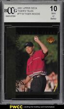 2001 Upper Deck Tiger's Tales Tiger Woods ROOKIE RC #TT18 BCCG 10
