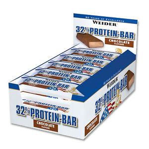 19,44€/kg Weider 32% Protein Bar, Eiweiß Protein Riegel, 24 Stück à 60g