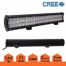 23Inch 144W CREE LED Light Bar SPOT FLOOD COMBO Offroad Jeep Boat ATV Truck Lamp