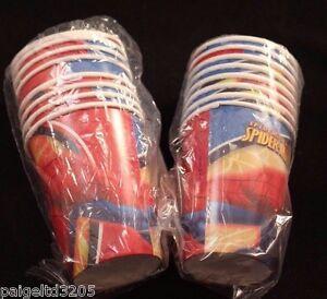 Party Express Hallmark Marvel Spider Sense Spider-Man Spiderman 40 Cups x 9 oz