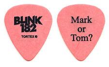 Blink-182 Mark Hoppus Mark Or Tom? Orange Guitar Pick - 2003 Tour