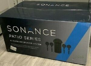 New Sonance Patio 4.1 Outdoor Speaker System, 4 Speakers & Sub (NO AMP)