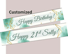 Custom PERSONALISED 21st Birthday Party Hanging Banner Decorations Celebrate