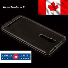 Zenfone 2 Ultra Thin Clear Soft Plastic Case GEL TPU + 1x Front Screen Protector
