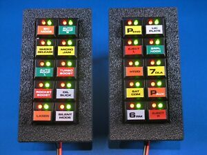 Knight Rider Switchpod Displays - SEASON 1-2 - with labels and textured bezels