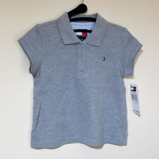 NWT Tommy Hilfiger Gray Polo Shirt For Girls Size 6