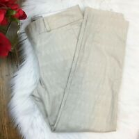 "Banana Republic Women's Light Beige Subtle Pattern ""Hampton Fit"" Pants Size 0P"