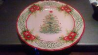 Pioneer Woman Dessert salad plate Garland Holiday 2017 Christmas lot of 4 New