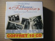 COFFRET 10 X CD TRENET BREL BRASSENS PIAF BOURVIL MONTAND FERNANDEL LEO FERRE...
