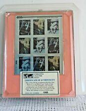 St. Vincent & The Grenadines Star Wars Collector Set Stamp Block of 9 in Frame