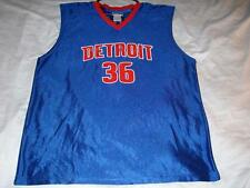 Rasheed Wallace 36 Detroit Pistons Blue NBA Brand Jersey Men's XL used scr print