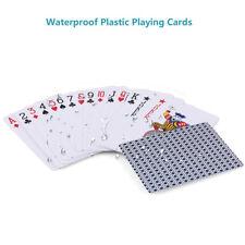 2 Decks Creative Plastic PVC Poker Waterproof Magic Playing Cards Table Game Set