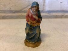 Vintage Anri Ferrandiz Sitting Mary Italian Woodcarved Figurine Nativity Set