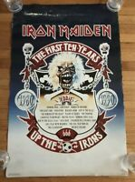 "Iron Maiden The First Ten Years Poster 1990 Original 34.5"" x 22"" Funky"