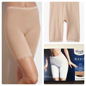 Sloggi basic long cotton nude briefs knickers Nude Bnib Size Uk 18 shorts