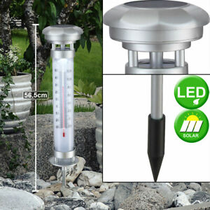 LED Exterior Termómetro Tiempo Medición IP44 Temperatura Solar Meter Iluminación