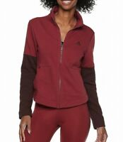 Adidas Jacket Red Size Small S Junior Softshell Front Zip Stand Collar $65 #557
