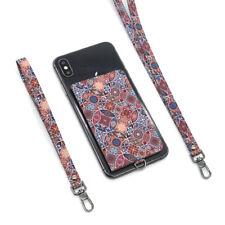 Ekax Stick on Phone Wallet+Short Strap+Long Strap-Luxury Pattern iphone, galaxy