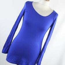 White Stuff Womens Size 8 Blue Plain Basic Tee
